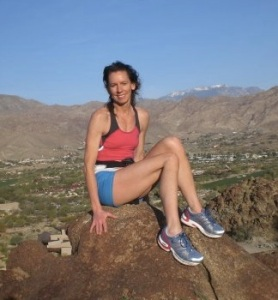 Kristen after running up a hill in Palm Desert, 2013
