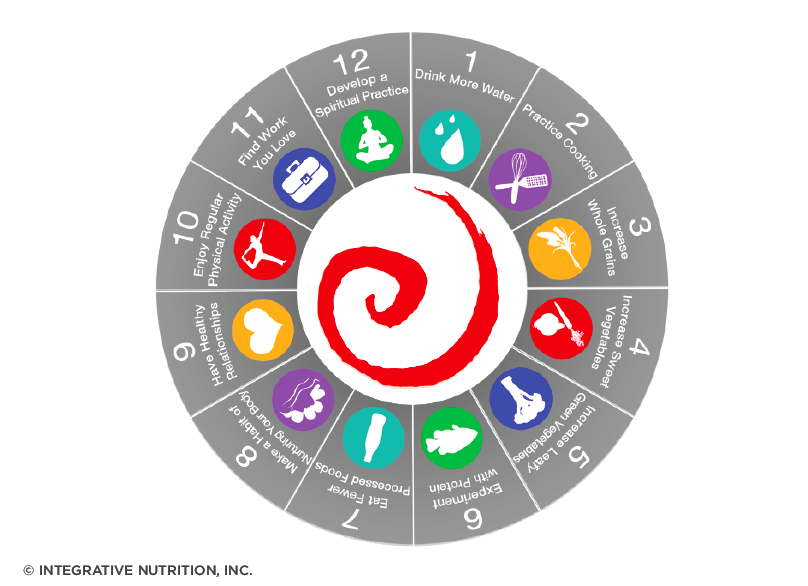 IIN 12 Steps to Better Health Wheel