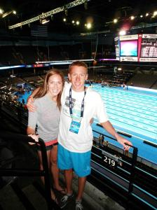 Megan supporting her brother Ian, who also competed at the Olympic Trials in [year]