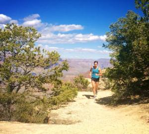 Megan Running at the Grand Canyon in 2015